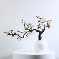 Decorative Flowers & Wreaths Artificial Flower Tree Branch Simulation Home Office Table Centerpiece Fake Floral Decor