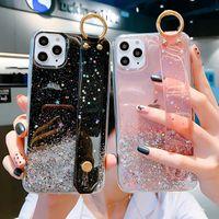 Porte-bracelet STAR GLITTER STAR BAGUE Porte-téléphone pour iPhone 12 Mini 11 PRO XS MAX X XR XSMAX 7 8 6 6S Plus iPhone12 Couverture 12Pro