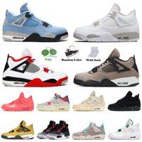 nike air jordan retro 4 off white 2021 varış basketbol ayakkabı sniversity mavi beyaz oreo erkekler kadınlar jumpman taupe pus saf para kapalıÜrdün Retro Eğitmenler Sneakers
