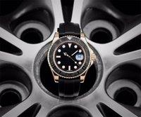 メンズ腕時計ヨットシリーズ40mm磨かれた明るい3次元数、着用可能、自動メカニカルランバオミラーセラミックリング