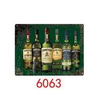 1PCS Whisky Irish Whisky Jameson Métal Tin Signes Peinture Stickers muraux Art Décoration Peinture de fer Plaque Mur de mur Décor Art Photos 20 * 30cm