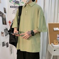 남성용 폴로스 솔리드 컬러 셔츠 여름 남성 여성 탄성 통기성 대형 티셔츠 편안한 흡수성 탑 플러스 사이즈