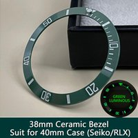 Repair Tools & Kits Sub Green Ceramic Bezel Insert Super C3 Green Blue Luminous Watch Case Outer Ring 38mm*30.6mm Suit For 40mm GMT NH35 Ser