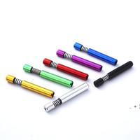 Taşınabilir Metal Sigara Borular 8mm Bahar Alüminyum Herb Tütün Boru Sigara Tutucu Aksesuarları OWD6394