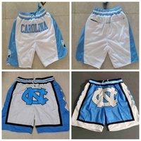 Kuzey Kısa Carolina Üniversitesi Erkekler MJ UNC UNCT Basketbol Şort Cep Pantolon Tüm Dikişli 3 Renkler Mavi