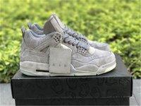 Schuhe kaws x 4 authentisch cool grau schwarz 4s xx klare glühen im dunklen weißen mann zapatos turnschuhe original