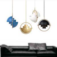 Pendentif Vintage Nordic Lampe de luxe Tête de luxe Tête Simple Tête Métal Creative Chambre à chevet Barre de chevet Hemisphere Panton Éclairage