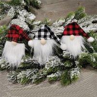 Noel Baba Şişe Kapak Yüzsüz Bebek Şarap Şişesi Dekorasyon Noel Nordic Arazi Tanrı Santa Asılı Süs RRA7494