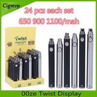 24 pilhas de torção de contagem com 650, 900 1100 mah preto e cromo