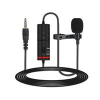 Lavalier Micrófono Condensador de Condensador Mic Omnidireccional Cancelación de ruido Para Micrófonos De Cámara y Teléfono