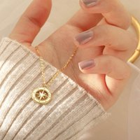 Pendant Necklaces 2021 Hit Gold Color Girl & Pendants The Eight-pointed Star Men Jewelry