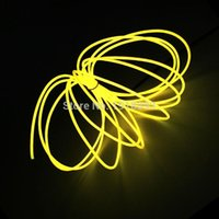 1/2/3/4/4/5 meter Neon Light Dance Party Decor LED Lâmpada Flexível El fio corda Tubo de corda À prova d'água com tiras do controlador