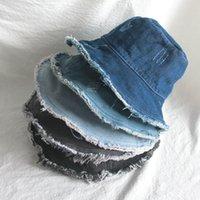 Denim Fishermans Hat Bucket Hat Unisex Fashion Bob Caps Hip Hop Gorros Men Women Panama Warm Windproof Bucket Hat Outdoor
