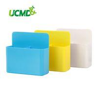 Frigorífico imán magnético caja de almacenamiento cuadrícula imán de goma magnet plástico contenedores bolígrafos lápiz taza guardar espacio cocina caja de almacenamiento 210330