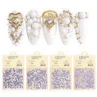 1 Pack Porcelain White 3D Nail Art Rhinestone Decorations SS6-SS20 Flatback Diamond Glass Strass Charm Gems Jewelry
