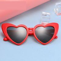 أطفال الصيف الاستقطاب النظارات الشمسية الأطفال القلب نظارات الشمس الفتيات بنين سيليكون uv400 الطفل مرآة الطفل النظارات النظارات