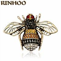 2 Farben Vintage Bienenbrosche Lila Gelb Strass Insekt Fliegen Biene Broschen Für Frauen Neue Modeschmuckerklärung Giftdio Chan Kontakt