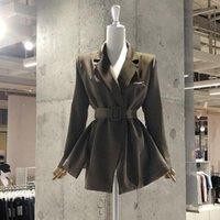 Женские костюмы Blazers Superaen 2021 костюм костюм пальто весна осень дизайн сплошной свободный повседневный верхний офис леди черный блейзер