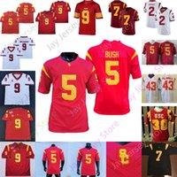 USC Trojans Southern California Football Jersey NCAA College Reggie Bush Troy Polamalu Kedon Slovis Vavae Malepeai Marcus Allen Drake London Keaontay Ingram