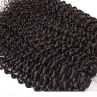 Бразильская грудь вьющиеся волосы для плетения Джерри скручивается без уток 3 пакета