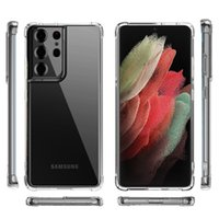 Clear Phone Cases For Samsung S21 Ultra S20 FE S10 Plus S8 S9 Note10 Note20 Pro Note8 Note9 transparent Hard Acrylic Case Shockproof Back Cover
