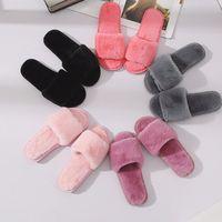 Brand Vogue Plush Slides Donne Donne Slipper Slipper Scarpe lanuginose Cucina flip flops con pelliccia sintetica Eco Eco Sostenibile Sandalo Sandalo Pantofole