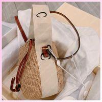 2021 여성 바구니 양동이 가방 짚 가방 핸드백 토트 비치 어깨 크로스 바디 여자 핸드백 Luxurys 디자이너 가방 totes 지갑 2106111L