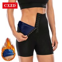 CXZD 2021 Body Shaper Sauna Shapers Hot Sweat Effect Slimming Short Shapewear Workout Gym Leggings Fitness Pants