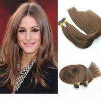 Remy Nano Ring Hair Extensions # 4 Dunkelbraunes Virgin Brasilianisches menschliches Haar Pre Conded Micro Nano Perlen Ringschleife Haarverlängerungen 1g Str