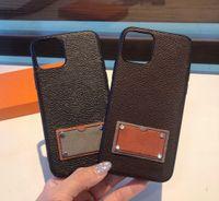 VPC01 Moda Mais Novo Clássico Pu Couro Phone Case Brown Brown 2 Cores em Presente Caixa de Varejo para iPhone 12 Mini 11 Pro Max