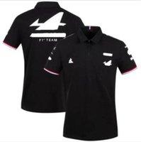 2021 F1 Formula Una serie di auto congiunta Logo Corse Suit Estate T-shirt a maniche corte per uomo, Camicia da polso a risvolto, Asciugatura rapida, Traspirante, Personalizzazione di grandi dimensioni