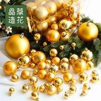 Fabrika Outlet Parti Dekorasyon Tayvan Jinghua Çiçek 3-28 cm Altın Parlak Mat Noel Top Ürünleri Ağaç Kolye
