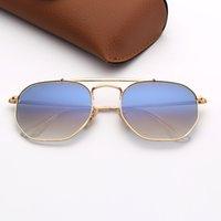 Occhiali da sole da uomo moda Design Design Occhiali da sole Donna EyeWare Gold Frame Rosa Specchio Specchio DES Lunettes de Soleil Man Eyeglasses con custodia in pelle e adesivi