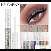 Salute Beauty Drop Consegna 2021 Glitter Eyeliner Impermeabile Liquid Eye Pigment Trucco Tattoo Fodera Donne Party Eyes Eyes Cosmetici 5G 12 Colori