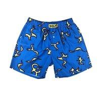 Pantalones para hombre para hombre diseñador de verano pantalones cortos de verano azul hawaiano llama playa de la calle de la calle de la calle casual
