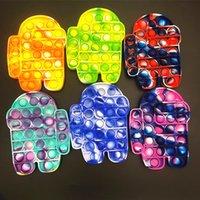 Descompressão para entre os fãs dos EUA empurram brinquedo pop bolhas sensoriais Fidget, pop autismo precisa de brinquedos de alívio de ansiedade