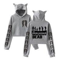 Felpe femmina femmina cut-out 90s Girls Hood Hood Streetwear che cammina morto Felpe con cappuccio con cappuccio Harajuku