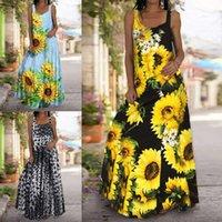 Elbiseler xe943 # Yaz Kolsuz Çiçek Leopar Baskı Kadın Tulum Elbise Kadın Elbise Yeni Varış Anne Kurulu Çiy Omuz