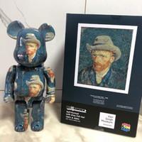 TJ Van Gogh 400% Bearbrick Eylem Oyuncak Figürler Mükemmel Restorasyon Yapı Taşı Bear Javier Calleja PVC El Yapımı Model