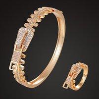 Boucles d'oreilles Collier Zlxgirl Metal Cuivre Cubic Zircon Shape Zircon Bracelet avec bijoux Ensembles de bijoux Fine Femmes Sacs Gratuits