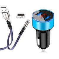 Cargadores de telefonía celular DUAL USB Cargador de automóvil cargador de carga rápida Adaptador de cargador de teléfono para Samsung Galaxy S3 S4 S5 S6 S7 Note 3 4