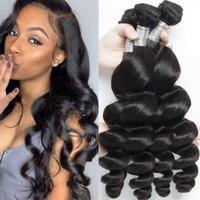 9a Virgin Remy Human Hair Extensions 3 Bundles Loose Wave Brazilian Peruvian Malaysian Indian Weaves Weft