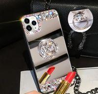 Celda 3D Acrílico Sunjolly Mirror Diamond Case para 11 PRO XS MAX XR 87 66S PLUS SE SE TELEA DE TELÉFONO CUBIERTE CUCHA FUNDAS YZJSX XZ2EM