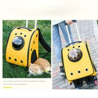 Dog Cat Carry Backpack Outdoor Travel Transport Bag Rolling Luggage Tote Trolley For Dogs Stroller Pet Accessories Suppplies Car Seat Covers