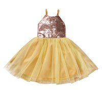 Girl's Dresses Ma&Baby 1-4Y Toddler Infant Baby Kid Girl Dress Sequins Tulle Tutu Party Birthday For Girls DD40