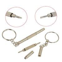 Llavero tornillo llavero gafas gafas destornillador destornillador de vidrio Ecigs Vapor reloj Reparación Portátil DIY Hand Herramienta GWB6039