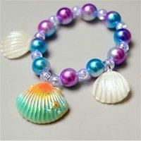 bracelet Children's cute cartoon little girl Bracelet accessories shell Princess jewelry beads imitation pearl