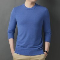 Men's Sweaters Lightweight Soft Rib Knit Thermal Underwear Top Crewneck Men Pullover Slim Fit Winter T Shirt Male Mock Neck 2021