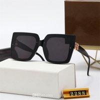 Mais novo Classic Sunglasses Marca Design UV400 Eyewear 2021 Quadrado Quadro Preto Sol óculos Homens Mulheres Vintage 2288 Óculos Polaroid Lens com caixa caixa