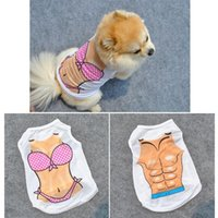 Dog Clothes Fashion personality Bikini printing Casual Cats Vest Sexy Pet Coat Apparel DHL Free OCVV D2ZM